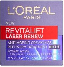 Парфюми, Парфюмерия, козметика Нощна обновяваща крем-маска - L'Oreal Paris Revitalift Laser Renew Night Cream-Mask