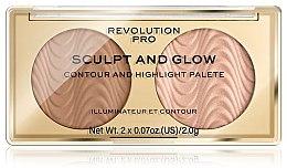 Парфюми, Парфюмерия, козметика Палитра за контуриране - Makeup Revolution Pro Sculpt And Glow