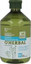 Парфюмерия и Козметика Шампоан за суха и изтощена коса с екстракт от лен - O'Herbal