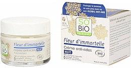 Парфюмерия и Козметика Нощен крем за лице против бръчки - So'Bio Etic Fleur D'immortelle Anti-Wrinkle Night Cream