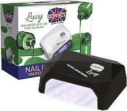 Парфюмерия и Козметика Лампа CCFL+LED за нокти, черна - Ronney Profesional Lucy CCFL + LED 36W (GY-LCL-021) Lamp