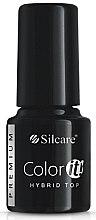Парфюмерия и Козметика Топ гел лак - Silcare Color IT Premium Hybrid Top Coat Gel