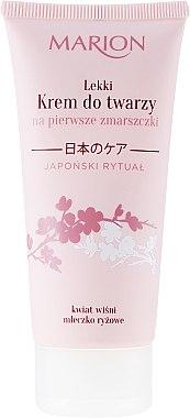Крем за лице против първи бръчки - Marion Japanese Ritual Light Face Cream for First Wrinkles — снимка N1