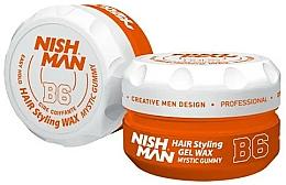 Парфюмерия и Козметика Стилизираща вакса-гел за коса - Nishman Hair Styling Gel Wax B6 Mystic Gummy