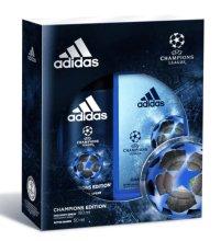 Парфюми, Парфюмерия, козметика Adidas UEFA Champions League Arena Edition - Комплект (дезодорант/150ml + афтършейв/50ml)