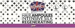 Парфюмерия и Козметика Изглаждащи ампули за коса - Ronney Professional Hair Ampoules Intensive Silk Regenerating