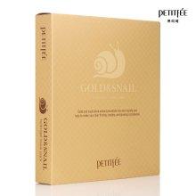 Хидрогел маска за лице със злато и екстракт от охлюв - Petitfee & Koelf Gold & Snail Hydrogel Mask Pack — снимка N3