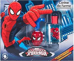 Парфюми, Парфюмерия, козметика Corine de Farme Spiderman - Комплект тоалетна вода и флуоресцентен душ гел (edt/50ml + spinning top)