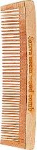 Парфюми, Парфюмерия, козметика Дървен гребен за коса, 19 см - Sattva Neem Wood Comb