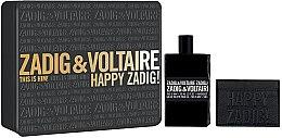 Парфюми, Парфюмерия, козметика Zadig & Voltaire This is Him - Комплект (тоал. вода/100ml + портфейл за карти)