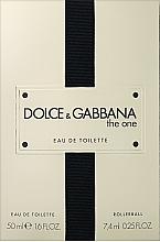 Парфюмерия и Козметика Dolce&Gabbana The One - Комплект (тоал. вода/50ml + тоал. вода/7.4ml)