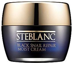 Парфюми, Парфюмерия, козметика Овлажняващ крем за лице със 60% муцин от черен охлюв - Steblanc Black Snail Repair Moist Cream