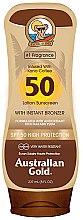 Парфюмерия и Козметика Слънцезащитен лосион - Australian Gold Bronzer Lotion SPF50