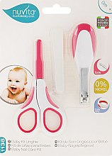"Парфюмерия и Козметика Детски комплект за нокти ""Baby Nail Care Kit"", 0м+, розов - Nuvita"