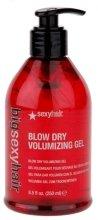 Парфюмерия и Козметика Гел за коса за оформяне със сешоар - SexyHair BigSexyHair Blow Dry Volumizing Gel Big Time Blow Dry Gel