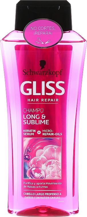 Шампоан за коса - Schwarzkopf Gliss Kur Long & Sublime Shampoo