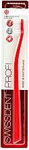 Парфюмерия и Козметика Мека четка за зъби, червена - SWISSDENT Profi Whitening Soft