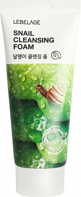 Почистваща пяна за лице с муцин от охлюв - Lebelage Snail Cleansing Foam