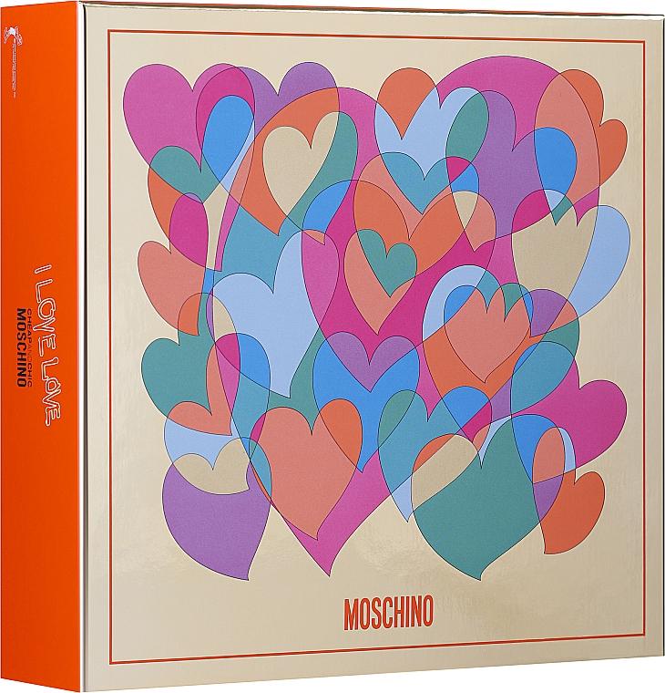 Moschino I Love Love - Комплект (тоал. вода/30ml + лосион за тяло/50ml) — снимка N1