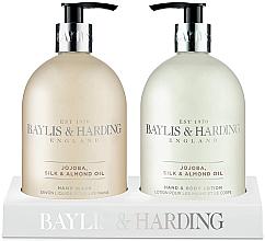 Парфюми, Парфюмерия, козметика Комплект - Baylis & Harding Royal Bouquet Jojoba, Silk and Almond Oil (лосион за тяло/500ml + сапун/500ml)
