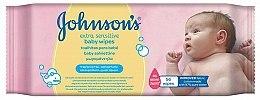 Парфюмерия и Козметика Мокри кърпички 56 бр. - Johnson's Baby Extra Sensitive