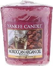 "Парфюми, Парфюмерия, козметика Ароматна свещ ""Мароканско и арганово масло"" - Yankee Candle Scented Votive Moroccan Argan Oil"