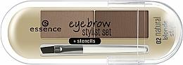 Парфюмерия и Козметика Сенки за вежди - Essence Eyebrow Stylist