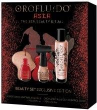 Парфюми, Парфюмерия, козметика Комплект - Orofluido Exclusive Edition Asia Beauty Set (еликсир за коса/50ml + лак за нокти/2x15ml)