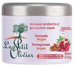Парфюмерия и Козметика Маска за боядисана коса - Le Petit Olivier Pomegranate Argan Hair Mask