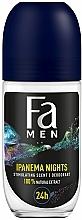 Парфюмерия и Козметика Рол-он дезодорант за мъже с екстракт от гуарана - Fa Men Ipanema Nights Deo Roll On