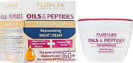 Парфюми, Парфюмерия, козметика Нощен крем за лице - Floslek Oils & Peptides Face Cream 60+