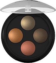 Парфюмерия и Козметика Сенки за очи - Lavera Illuminating Eyeshadow Quattro