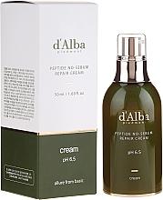 Парфюмерия и Козметика Балансиращ крем за лице с пептиди и бял трюфел - D'Alba Peptide No-Sebum Repair Cream