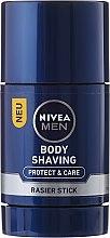 Парфюми, Парфюмерия, козметика Стик крем за бръснене - Nivea Men Protect & Care Body Shaving Rasier Stick