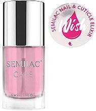 Парфюмерия и Козметика Масло-еликсир за нокти и кожички - Semilac Care Nail & Cuticle Elixir Wish