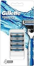 Парфюми, Парфюмерия, козметика Сменяеми ножчета за самобръсначка - Gillette Mach3 Start Razor Blades