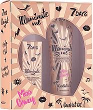 Парфюмерия и Козметика Комплект - 7 Days Illuminate Me Miss Crazy №2 (мляко/150ml + флуид/50ml)