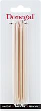 Парфюмерия и Козметика Дървени пръчици за избутване на кутикули 12 см, 9208 - Donegal