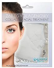 Парфюмерия и Козметика Колагенова маска за лице за укрепване на кръвоносните съдове - Beauty Face Collagen Capillaries Strengthening Home Spa Treatment Mask