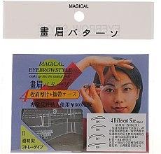 Парфюмерия и Козметика Шаблони за вежди, размер В5, В6, В7, В8 - Magical Eyebrow Style