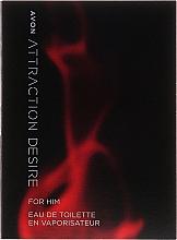 Парфюмерия и Козметика Avon Attraction Desire For Him - Тоалетна вода (мостра)