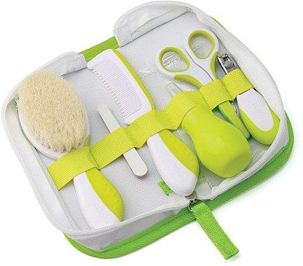 Детски комплект грижа за коса и нокти 0м+, зелен - Nuvita — снимка N1