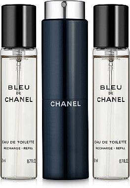 Chanel Bleu de Chanel - Тоалетна вода (3 пълнителя и атомайзер) — снимка N1
