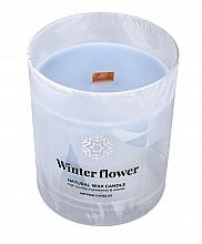 Парфюмерия и Козметика Декоративна свещ с дървен фитил, 8x9.5см - Artman Organic Winter Flower