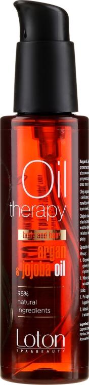 Масло за коса и тяло - Loton Argan & Jojoba Oil