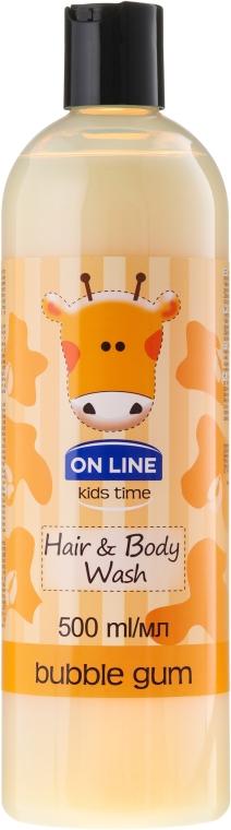 "Шампоан-душ гел за деца ""Дъвка"" - On Line Kids Time Hair & Body Wash Bubble Gum"