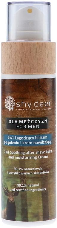 Успокояващ и хидратиращ балсам-крем за след бръснене - Shy Deer For Men 2in1 Sothing After Shave Balm And Moisturizing Cream — снимка N1