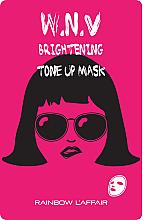 Парфюмерия и Козметика Изсветляваща маска за лице - Rainbow L'Affair K-Mask Sheet W.N.V Brightening Tone Up Mask