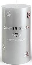 Парфюмерия и Козметика Ароматна свещ, сива, 7х13см - Artman Winter Glass