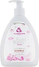 """Парфюмерия и Козметика Течен сапун """"Розови лестенца"""" - Bulgarian Rose Rose Berry Nature Liquid Soap"""